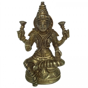 Laxmi Ji Brass sculpture in ntique Finish