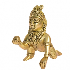 Ladoo Gopal Brass temple Religious Statue