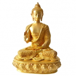 Lord Buddha Brass Made Decorative Figure Super Fine Carving