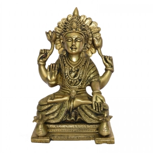 Laxmi Brass Statue Goddess of wealth