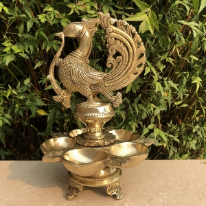 Designer Decorative Peacock Decorative Oil Lamp