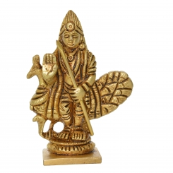 Blessing Statue of Lord Murgan in Brass Metal