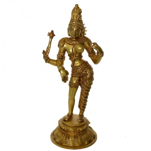 Ardhnareshwar Decorative Figure Hand Made Brass Sculpture