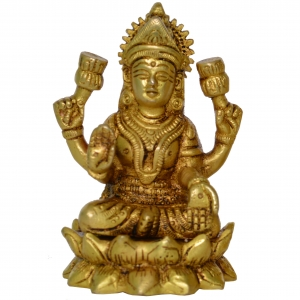 Laxmi ji Brass Statue Figure for Home Temple