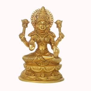 Goddess Laxmi Metal Brass Decorative Temple Statue