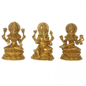 Ganesh Laxmi Saraswati Beautiful Figure for Temple or Decor