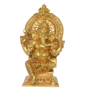 Glorious Lord Ganesha Statue Made of Brass