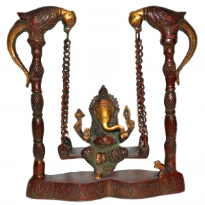 Ganesha Swing Statue of  in Antique Finish By Aakrati