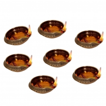 Kuber Diya - Diwali Oil Diya Festival Gift Item Set of 7