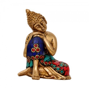 Buddha Decorative Showpice In Brass