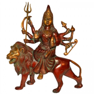 Durga Ji Brass made antique look Murti for Temple or gift