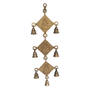 Religious symbol wind chims hanging bells