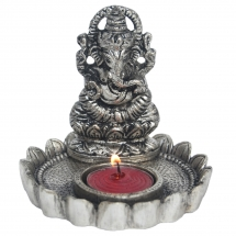 Ganesh statue with candle  holder