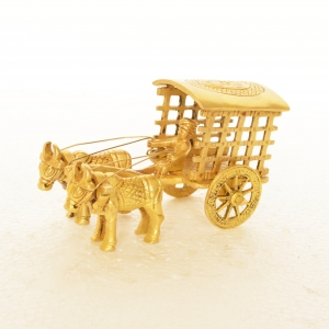 Bullock Cart of Brass - Table decor - Showpiece - Gift - Decorative - Home Decor