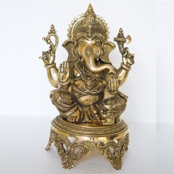 Lord Ganesha Sitting Pooja Ghar/Home/Office/Decor Statue