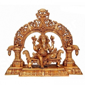 Ganesha Statue - A religious hindu lord Murti for your temple