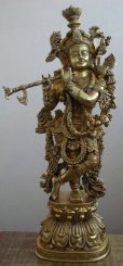 Lord Krishna Statue of Brass