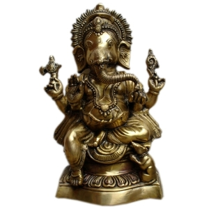 Lord Ganesha Brass Statue for Home Decoration