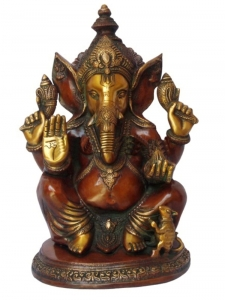 Lord Ganesha Antique Statue of Brass for Decoration