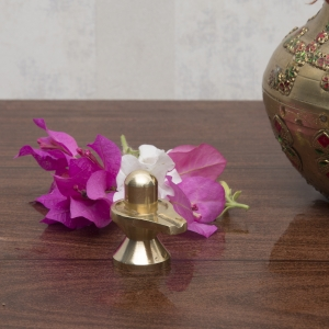 Brass Small Shivling for Home Temple and Office Religious Figurine Perfect finish Statue of Shiv Lingam for Pooja temple, gift and decor