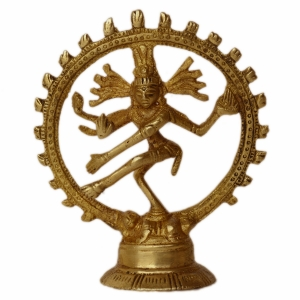 Lord Shiva in Dancing position Natraj Statue of Brass made craft and gift unique for table decor
