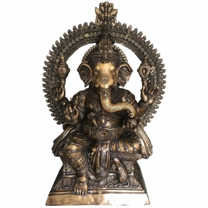 Garden big statue of Brass Made Lord Ganesha 6 feet height