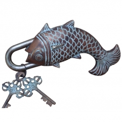 Fish shape door pad lock for your office and home