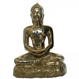 Lord Buddha sitting in meditating position brass statue