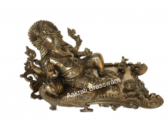 Lord Ganesha Brass made reclining decorative hand carved statue