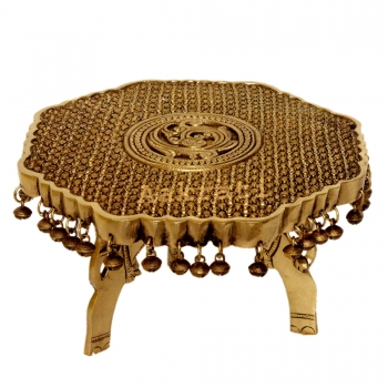 Brass made stand decorative pooja chowki - Stool - Metal Furntiure