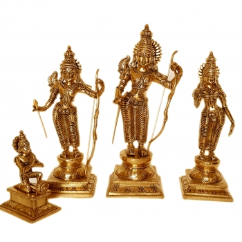 Ram Darbar brass made hand carved statue for pooja ghar