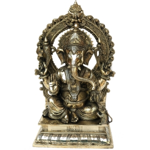 Lord Ganesha Brass Made Home/Office D�cor decorative statue