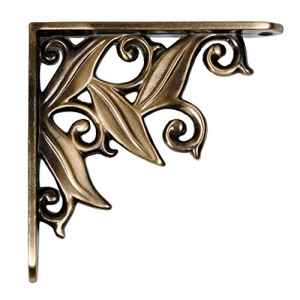 Aakrati Metal Floral Vintage Antique Handcrafted Iron Wall Brackets for Shelves