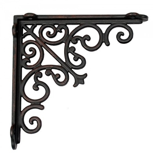 Aakrati Majestic Handcrafted Iron Wall Bracket for Shelves