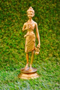 Neelkanth Varni - Swaminarayan 7 inch yellow coloured brass statue For Devotees