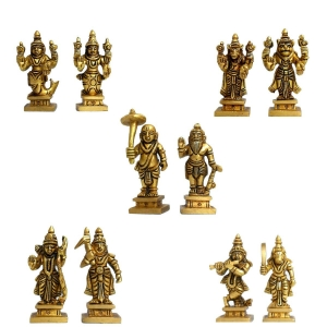Aakrati Dashavataram -Ten Incarnations/Avatars of Lord Vishnu -Lord Vishnu all avtar Statues is made of best quality brass with details worked by India artisan.