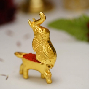 Aakrati Elephant Shaped Box For Small Storage Figurine