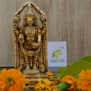 Tirupati Balaji Statue of Brass - A Divine Home Decor Sculpture - Hindu Religious Figure