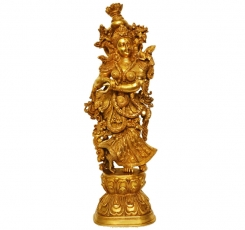 Goddess Radha Metal brass Decorative Statue for Decor 30 inch height