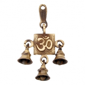 Door hanging bells crafted with Om