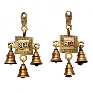 Brass metal made religious wall hanging bells