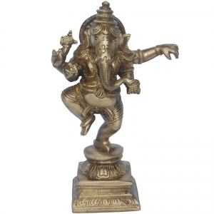 Aakrati- Ganesha Dancing Statue Made in Brass