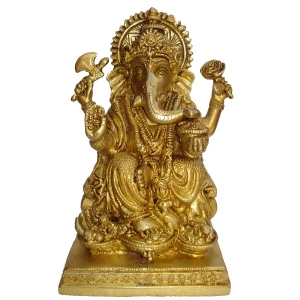 Statue of Lord Ganesha- A Decorative brassware for home decoration & temple