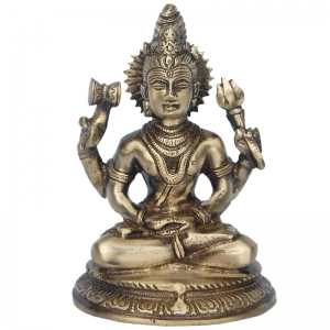 Lord Shiva Statue- Brass Metal Hand Crafted item for gift /Home/temple