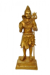 Lord Shiva standing brass metal adorable statue