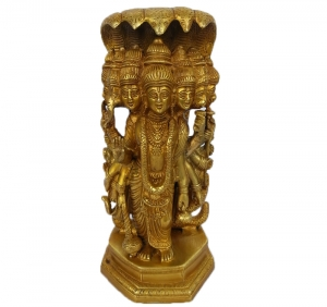 Lord Vishnu marvelous statue made of brass