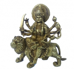 Maa Durga religious sculpture made of brass metal