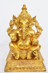 Brass made rare Impressive & majestick murti of Lord Ganesha for your office decoration