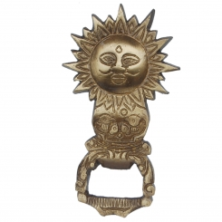 Sun face antique finish bottle opner