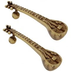 Sitar Door Handle Pair Made in Brass By Aakrati
